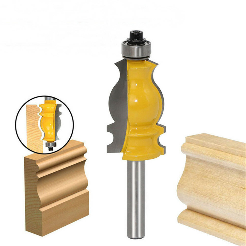 8mm Shank Architectural Cemented Carbide Molding Router Bit Trimming Wood Milling Cutter For Woodwork Cutter Power Tools