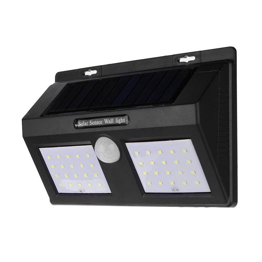the best attitude 501dd 92b9e 40 LED Solar Powered PIR Motion Sensor Wall Lamp Waterproof Security White  Light Garden Outdoor