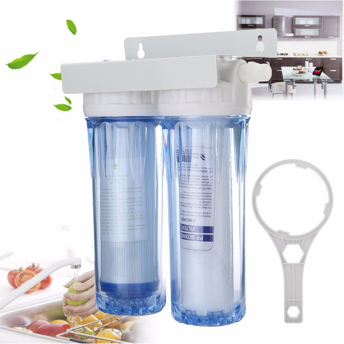 10 Dual Dual Reverse Osmosis Faucet Tap Water Filter Health Purifier Cartridge Home Kitchen