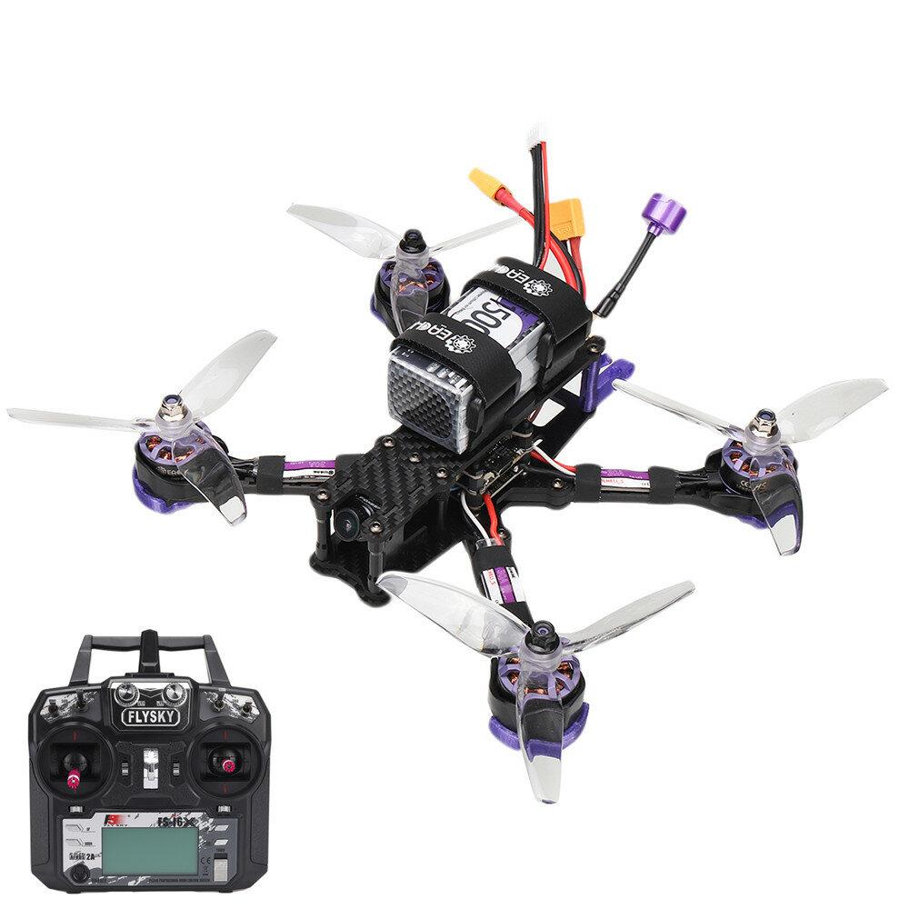 Eachine Wizard X220 V2 5 Inch 4S FPV Racing Drone RTF Flysky FS-i6X Transmitter FOXEER Arrow Micro Pro Cam F405 DJI DUAL BEC V1 Flight Controller 30A Blheli_S Brushless ESC 2207 2550KV Motor