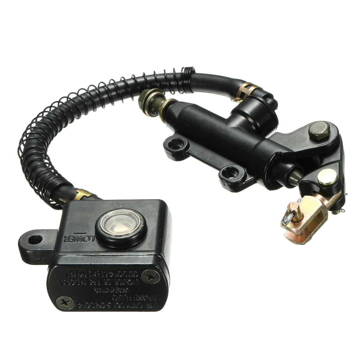 14mm Bore Rear Brake Master Cylinder Oil Reservoir Motorcycle Pit Dirt Bike  ATV