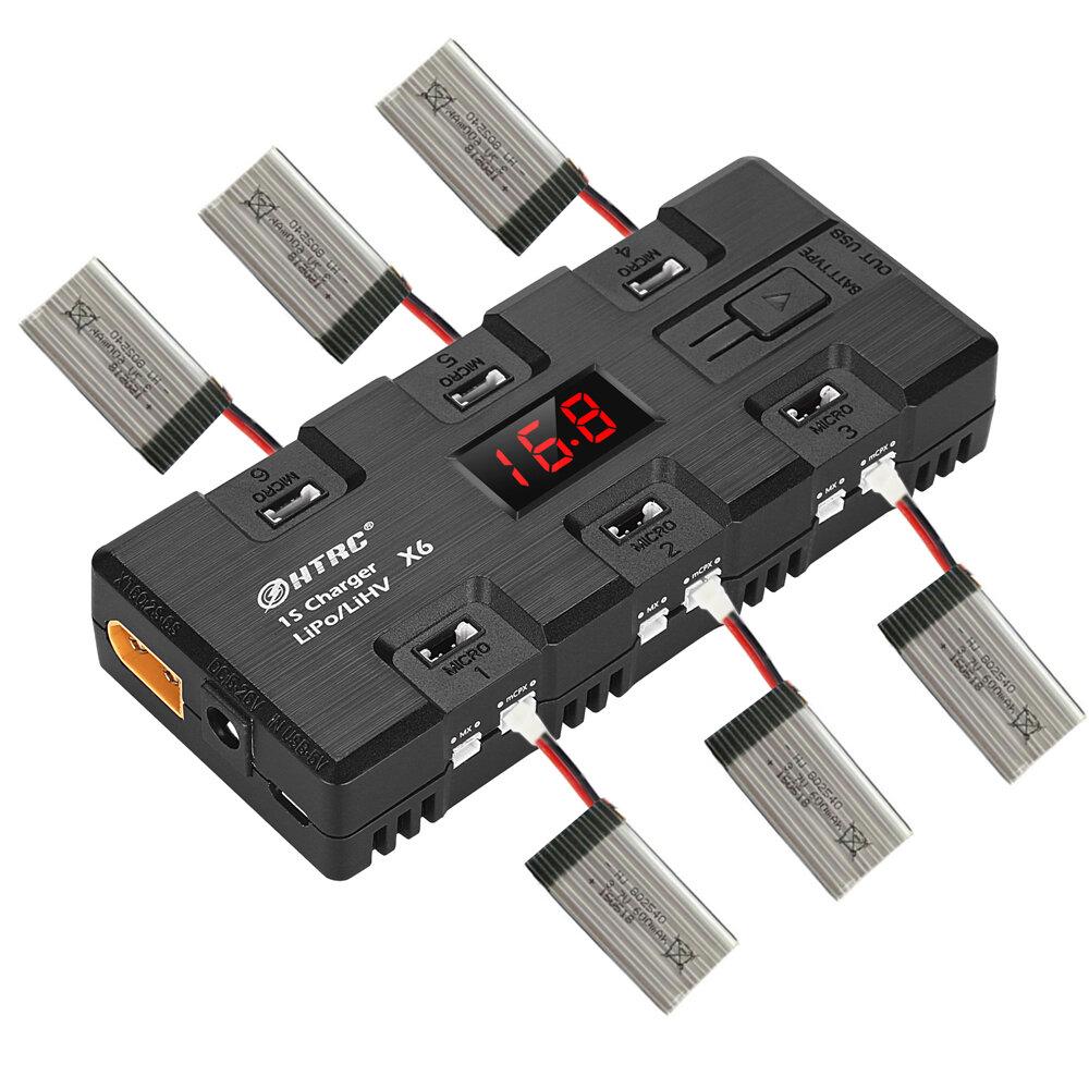 HTRC X6 4W*6 1A*6 DC Micro MX MCPX JST 1S