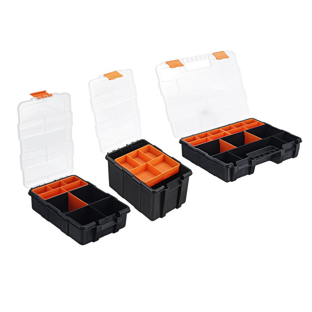 Portable Parts Box Screw Storage Box Metal Parts Hardware Tool Screwdriver Auto Repair Plastic Tool Box