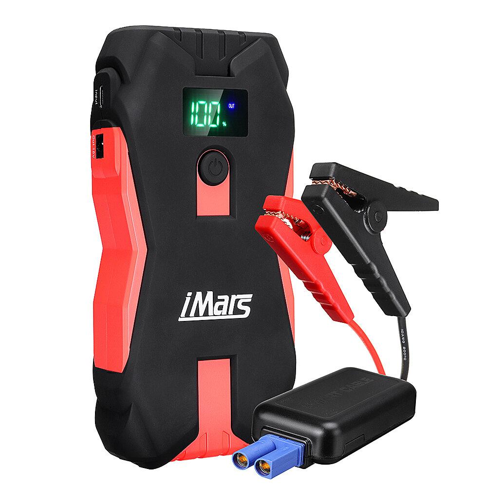 iMars J02 1300A 16000mAh Portable Car Jump Starter Powerbank Emergency Battery Booster with LED Flashlight USB Port