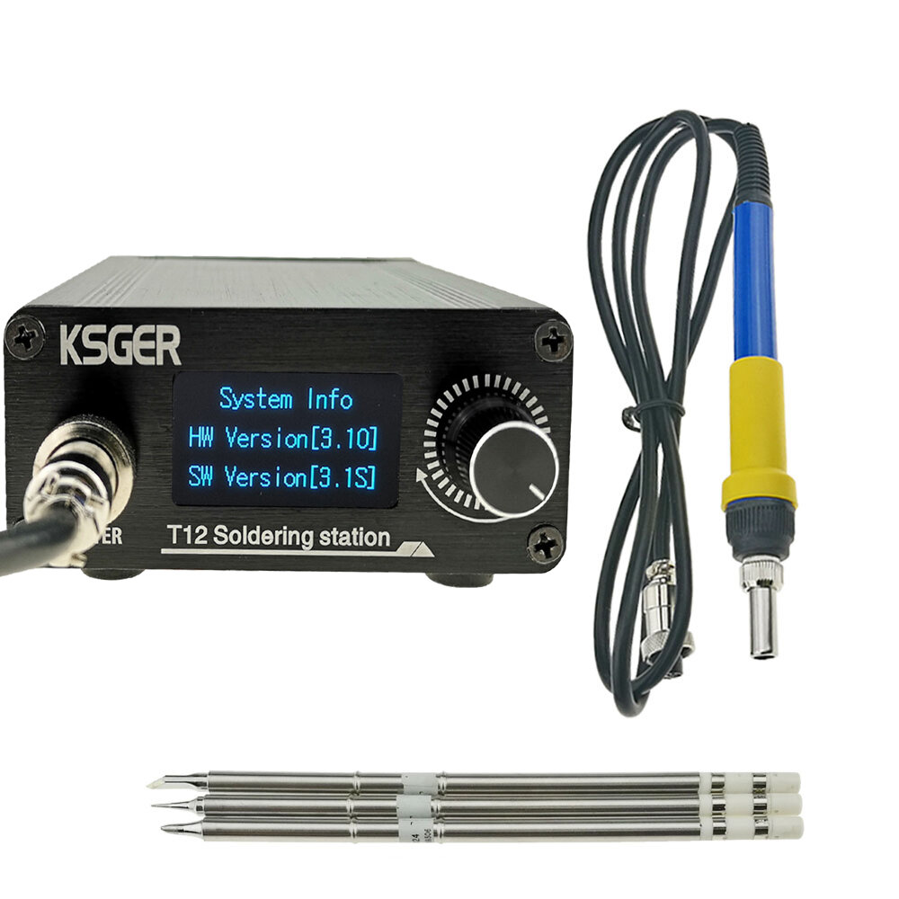 KSGER T12 STM32 V3.1S Welding Soldering Iron Station OLED DIY Plastic Handle Electric Tools Quick Heating T12 Iron Tips