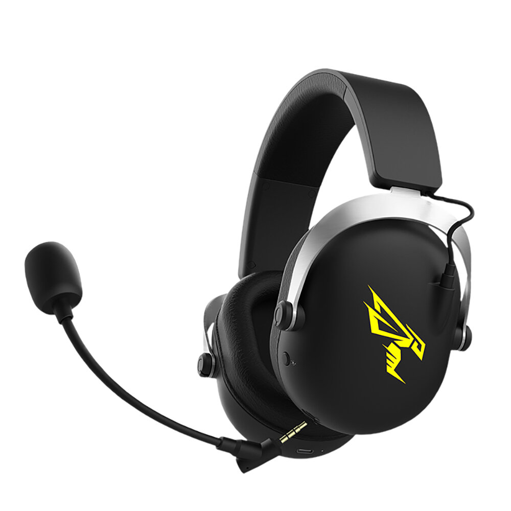 SOMIC GS609 2.4GWireless Gaming Headset with Virtual 7.1 Surround Sound Intelligence Noise Cancellation Removable Mic RG