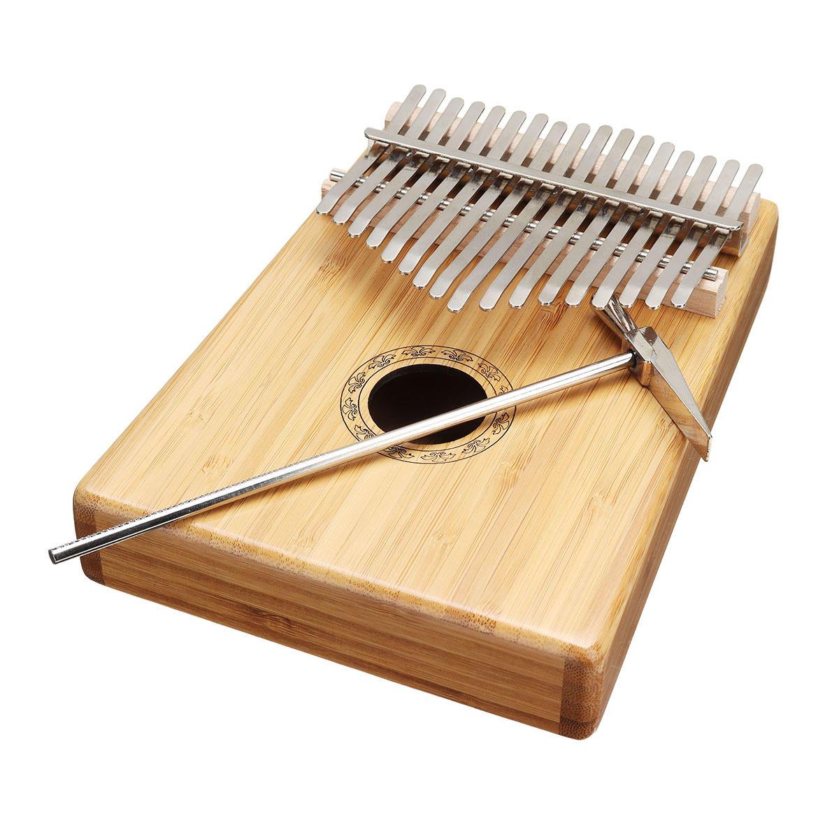 17 Phím Tre Thumb Piano Finger Bộ gõ Kalimba với Điều chỉnh Hammer