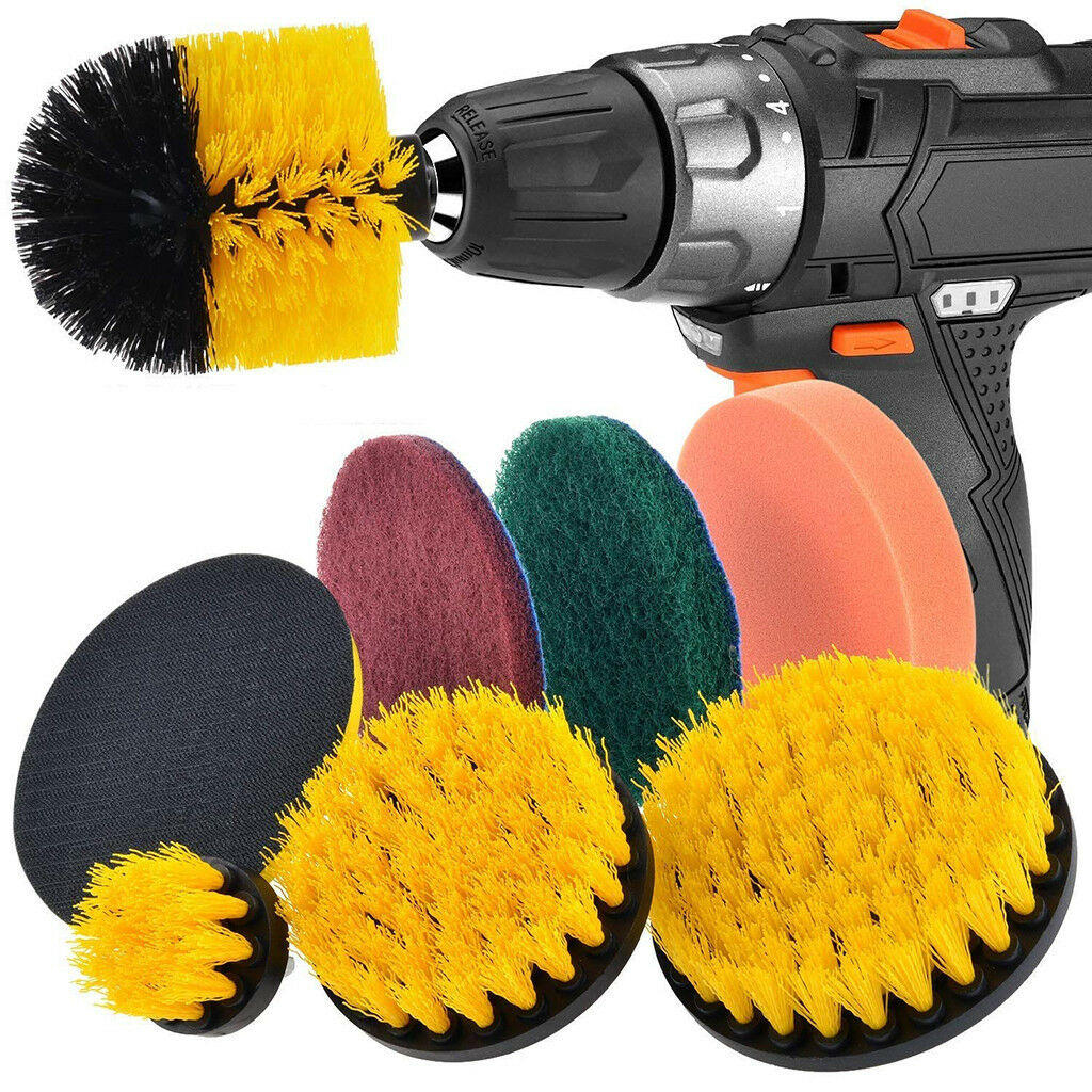 8pcs Drill Brush Scrub Pads Power Scrubber Cleaning Kit Cleaning Brush for Power Tool