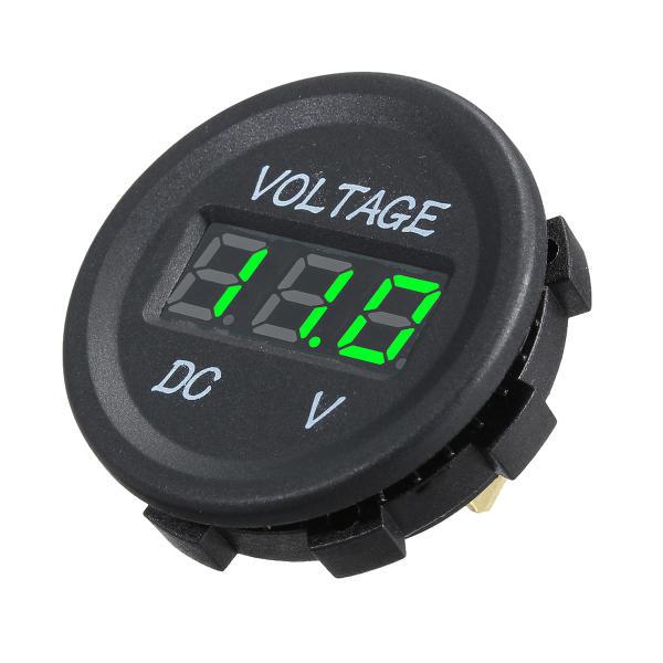 DC 12V LED Panel Digital Voltage Meter Display Voltmeter For Car Motorcycle Boat