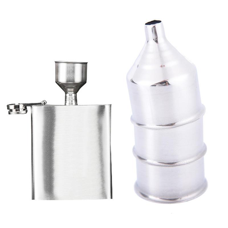 304 rustfrit stål tragt hofteflaske tykkere tragt hofteflaske tilbehør anti-dråbe bar værktøj hofte flaske tragt vin flydende tragt