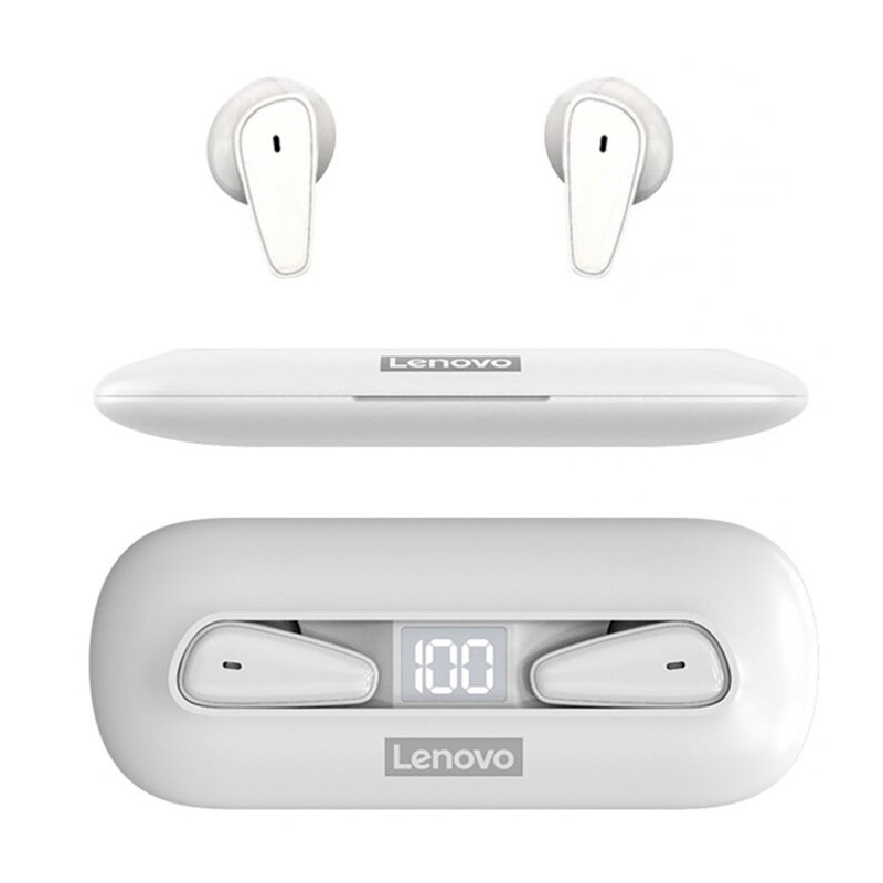Lenovo XT95 TWS bluetooth 5.0 Earbuds Headsets 1.6CM Ultra Thin Touch Control Digital Display Stereo HiFi Bass 28H Playtime Headphones