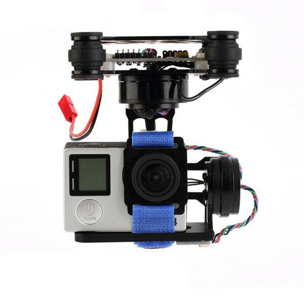 FPV 3 Axis CNC Logam Brushless Gimbal Dengan Controller Untuk DJI Phantom GoPro 3 4 180g untuk RC Drone FPV Racing