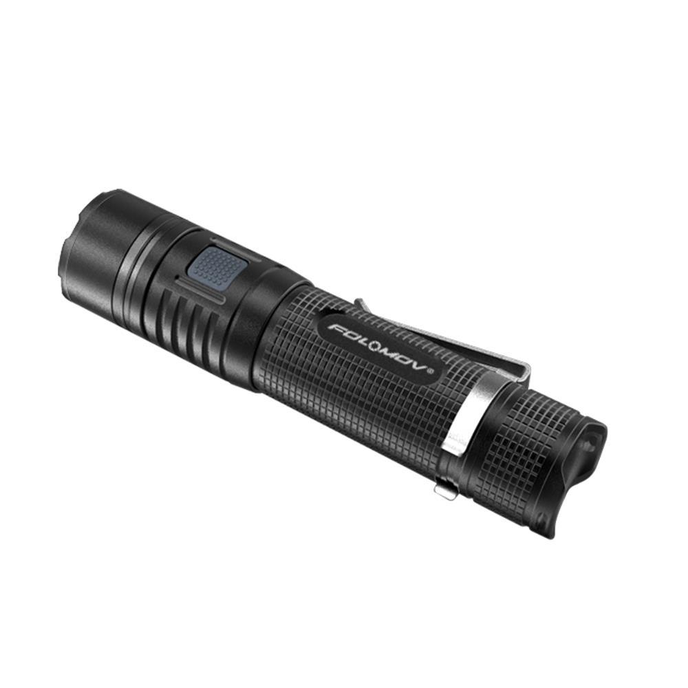 Folomov Tour B4 XP-L 1200LM Multifunctional USB Rechargeable LED Flashlight 18650