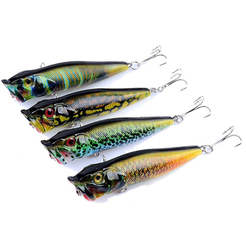 ZANLURE 4pcs/set 9 5cm 12g Fishing Lure Topwater Popper Wobblers Crankbaits  Artificial Hard Baits