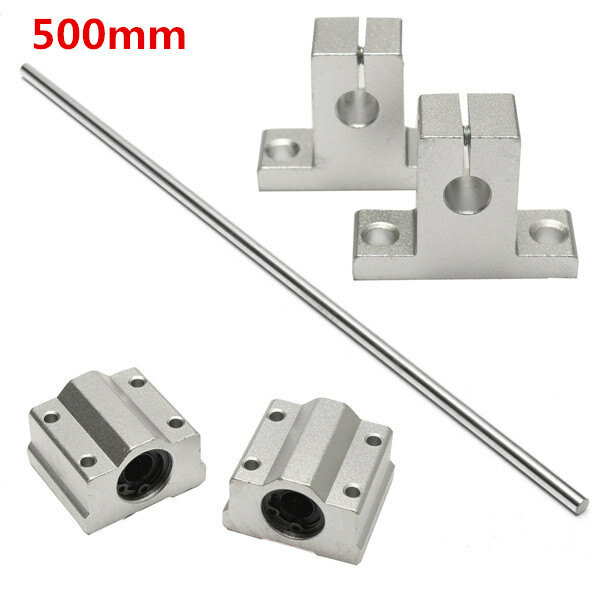 8mm X 500mm Linear Rail Shaft Rod With Bearing Guide