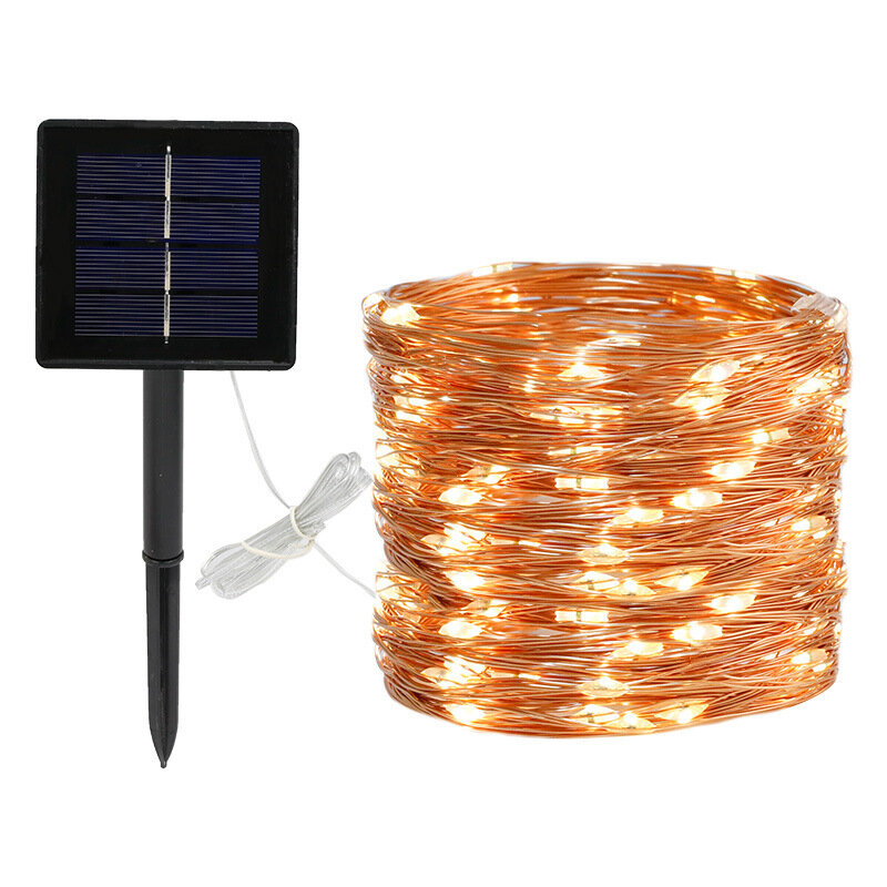 8 Modes 5m 50 LED Solar Power Fairy Lights String Lamps Party Wedding Decor Garden Christmas Tree Decorations Lights