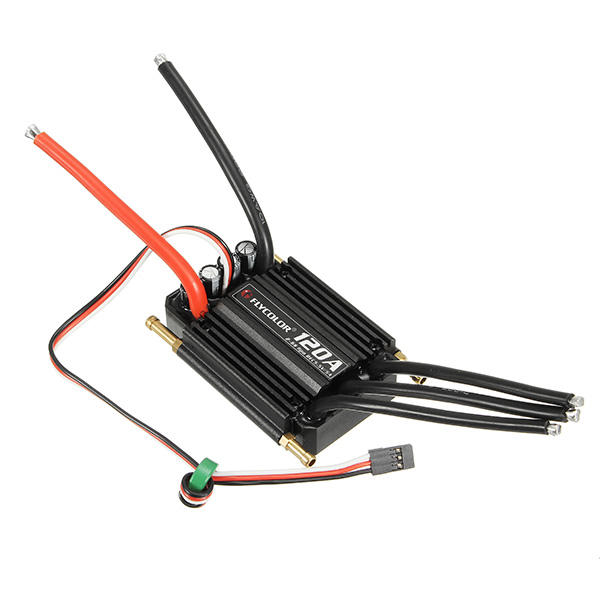 FlyColor Waterproof Brushless 120A ESC 2-6s With 5.5v / 5A  For RC Boat