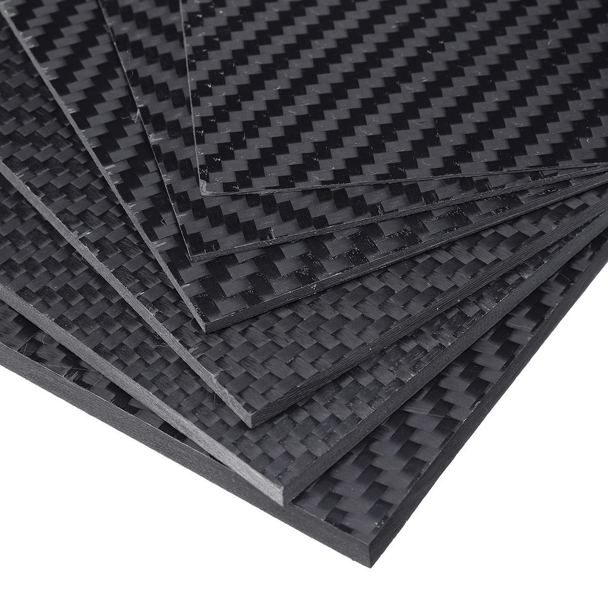 100x250x(0.5-5)mm black matte twill carbon fiber plate sheet board ...