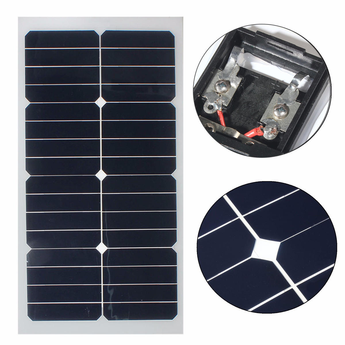 Elfeland® SS-20W 12V Mono Semi-flexible Solar Panel With Sunpower Chip For Battery Charger Boats Cara