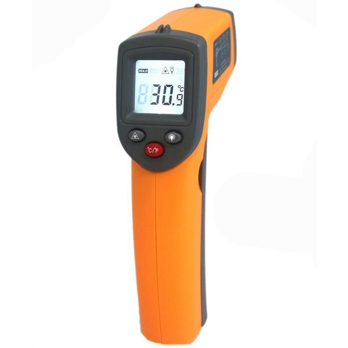 GS320 Laser Digital LCD IR Temperaturmätare för infraröd termometer, icke-kontaktgivare -50 ° C ~ 360 ° C / -58 ° F ~ 680 ° F