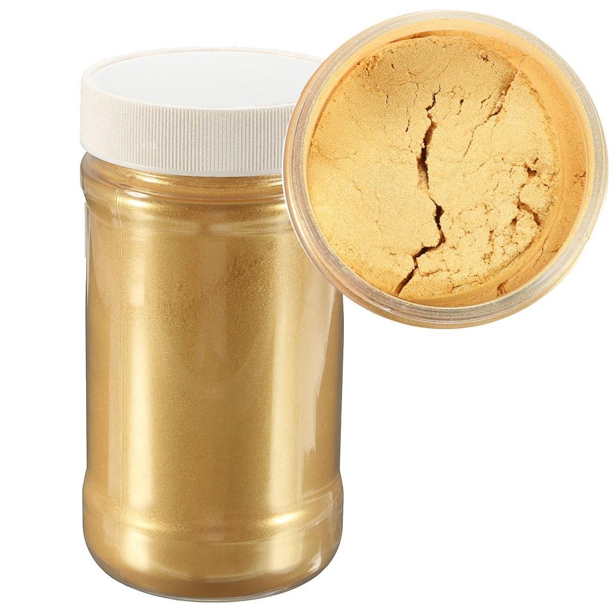 100g Gold Ultrafine Glitter Pearl Pigment Powder Metal Sparkle Shimmer Paint