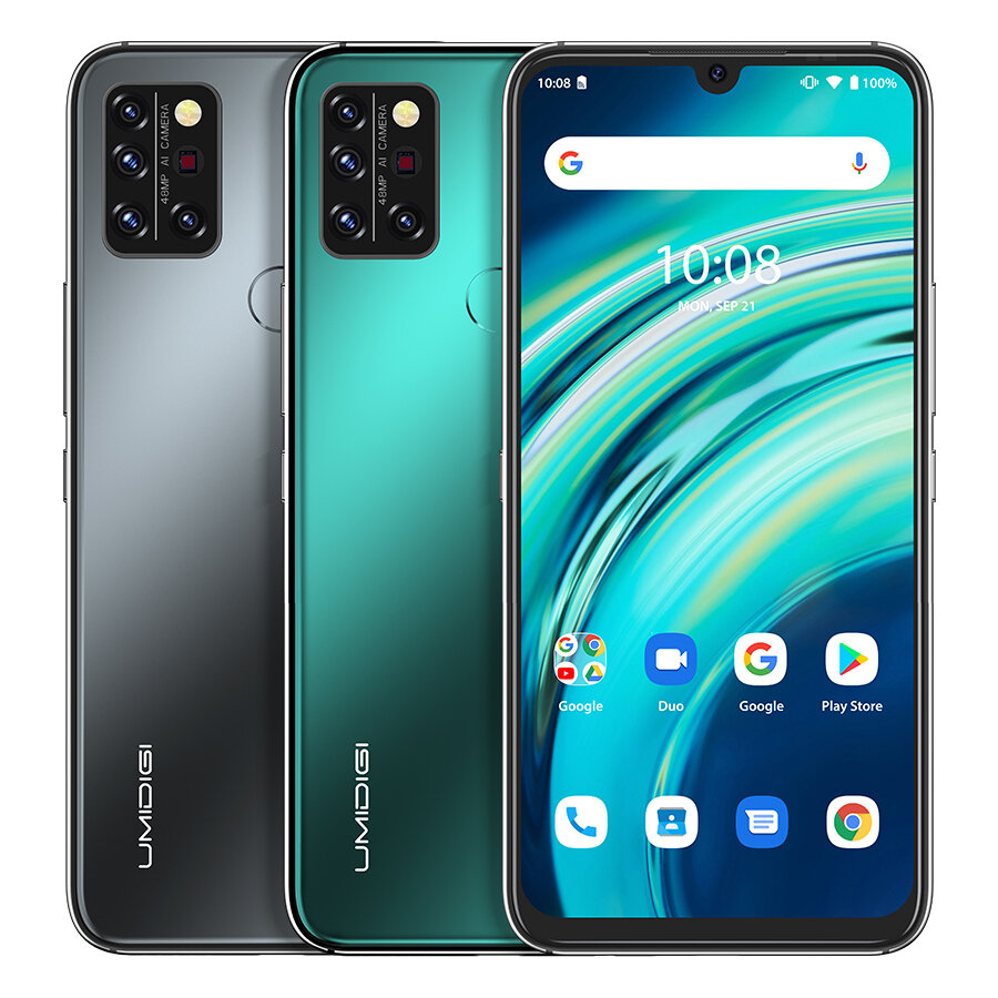 UMIDIGI A9 Pro Global Bands 6.3 inch FHD+ Infrared Thermometer 8GB 128GB Helio P60 Android 11 4150mAh 48MP AI Matrix Quad Camera 3 Card Slots 4G Smartphone