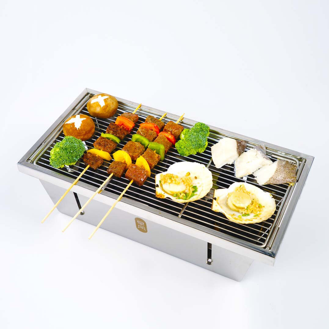 ZaoFeng Portable Barbecue BBQ Grill For 3-4 People Kitchen BBQ Tools From Xiaomi Youpin