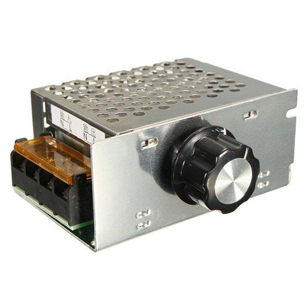 AC 220V 4000W SCR Regulator napięcia Ściemniacz Elektroniczny regulator prędkości silnika