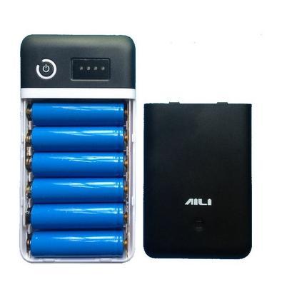 Bakeey 6x18650 Battery Case DIY Power Bank Kit Box 3.7/5/6/9/12V for Smartphones