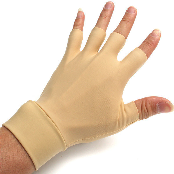 Antiedematic Gloves For Arthritis Hands Fingers Wrist Washable Elastic Fingerless Relieve Pain