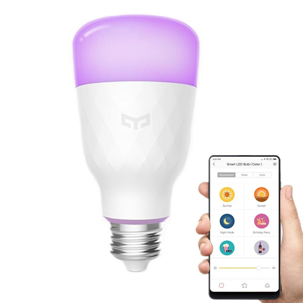 Yeelight YLDP06YL E26 E27 10W RGBW Smart LED Bulb Work With Amazon Alexa AC100-240V (Xiaomi Ecosystem Product)