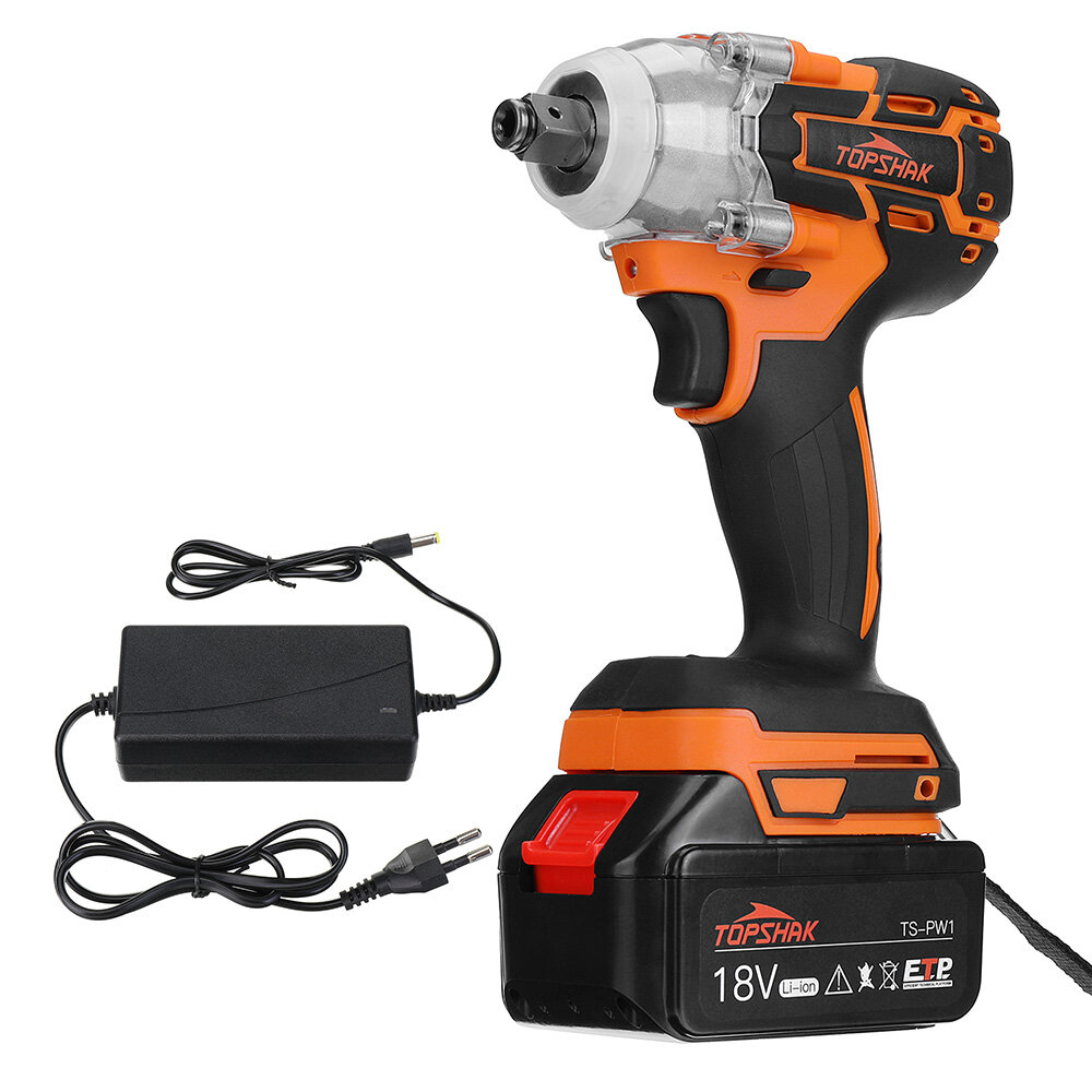 Topshak TS PW1 Brushless Impact Wrench LED 15000mAh Rechargeable Woodworking Maintenance Tool W or Battery