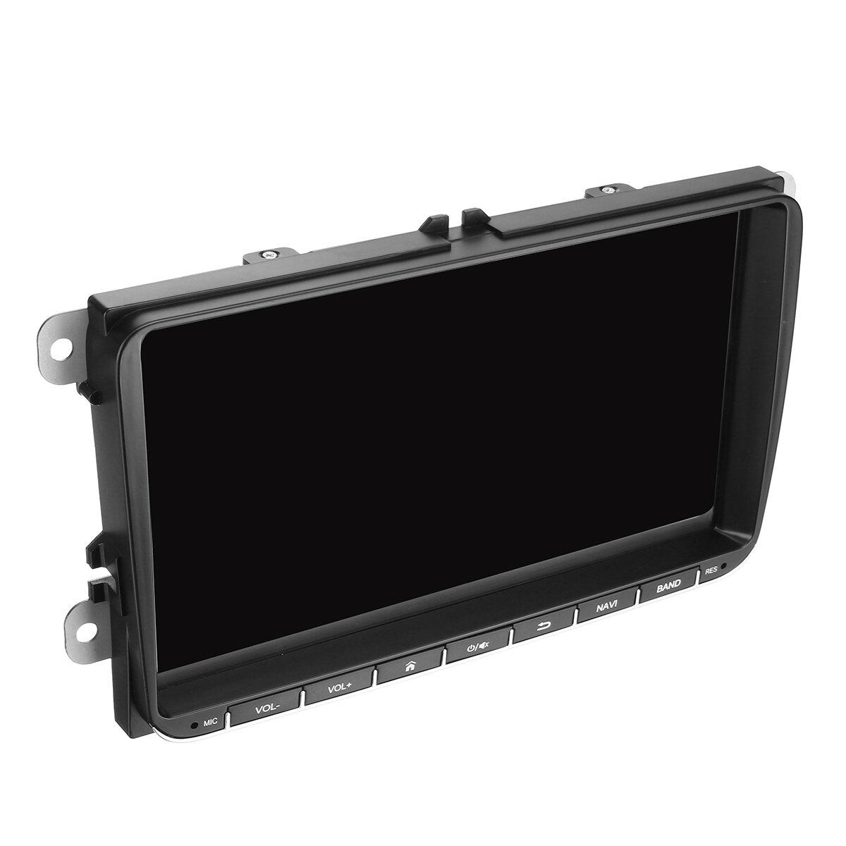 9インチ2 DINアンドロイド8.1車ステレオクアッドコア1 + 16 GラジオタッチスクリーンGPSブルートゥースWIFI VWシュコダ席