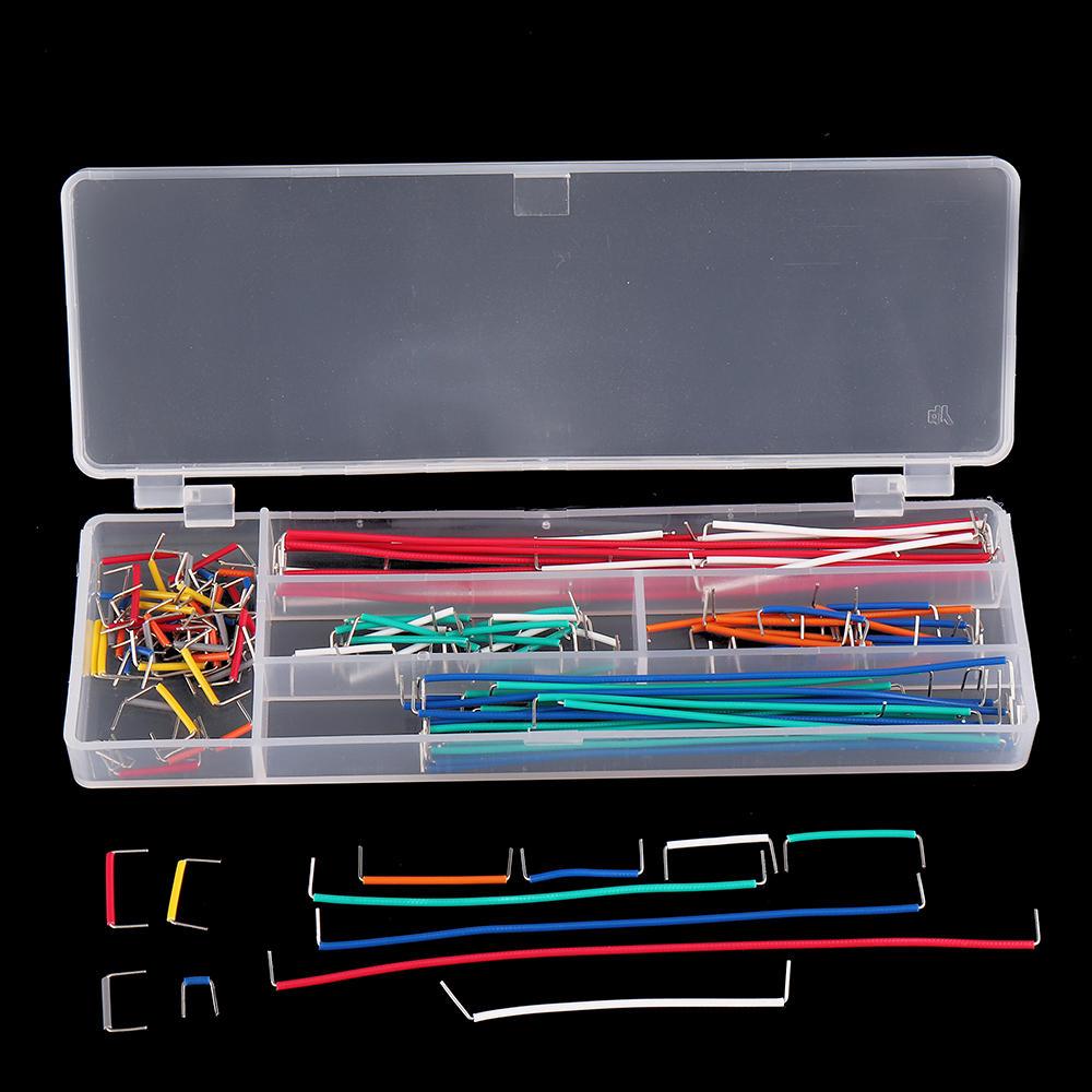 140 adet U Şekli Kalkanı Lehimsiz Hamur Tahtası Jumper Kablo Teller Arduino Için Kit