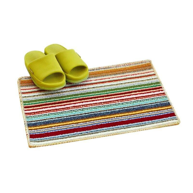Jasne kolorowe paski dywan maty drzwi antypoślizgowe wysokie dywaniki dywaniki dywaniki podłogowe drzwi dostosowane do łazienki korytarz sypialnia i kuchnia