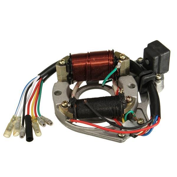 Ignition Stator Magneto Plate for Chinese 50cc 110cc 125CC ATV Quad 2 Coils