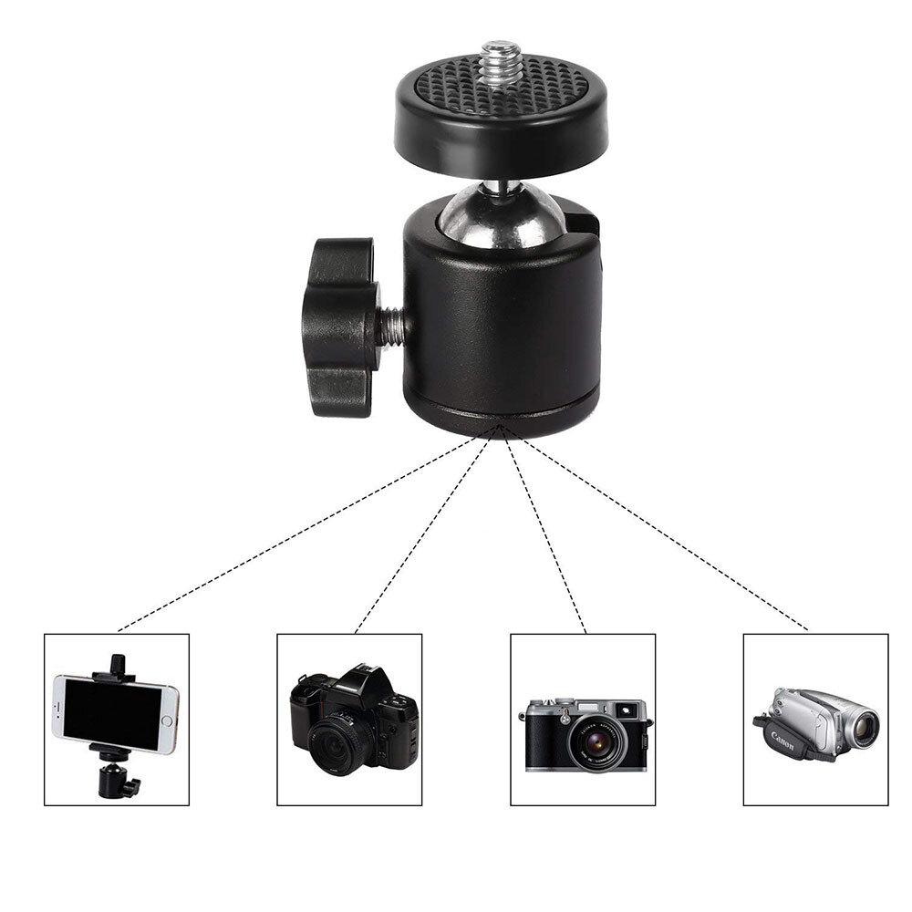 Universal 1/4 Inch Screw Mini Ball Head Flash Bracket Holder Mount For Gimbal Camera Tripod Hot Shoe