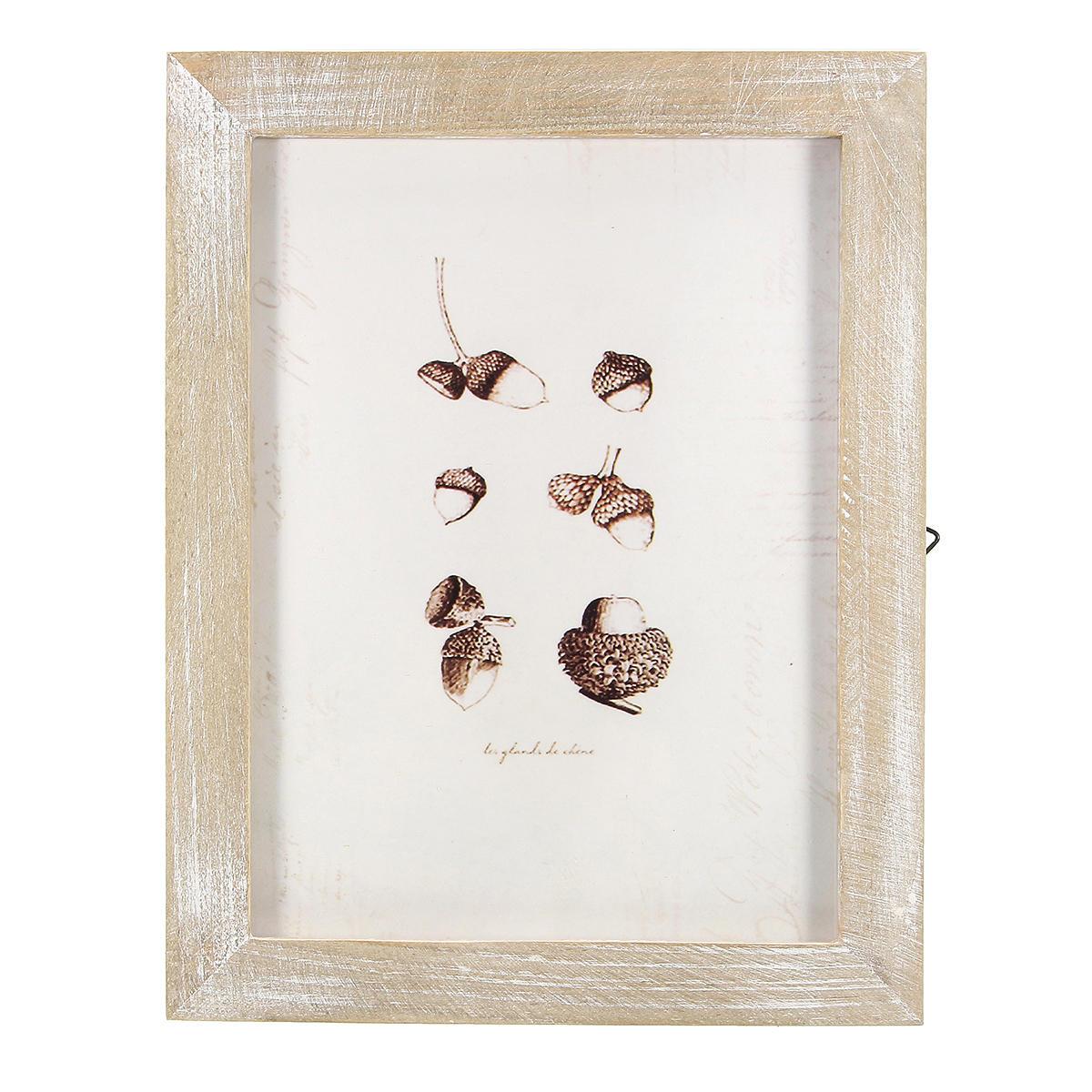 23x18cm / 19x14cm vendimia marco de fotos de madera maciza colgante de pared decoración de la habitación shabby chic