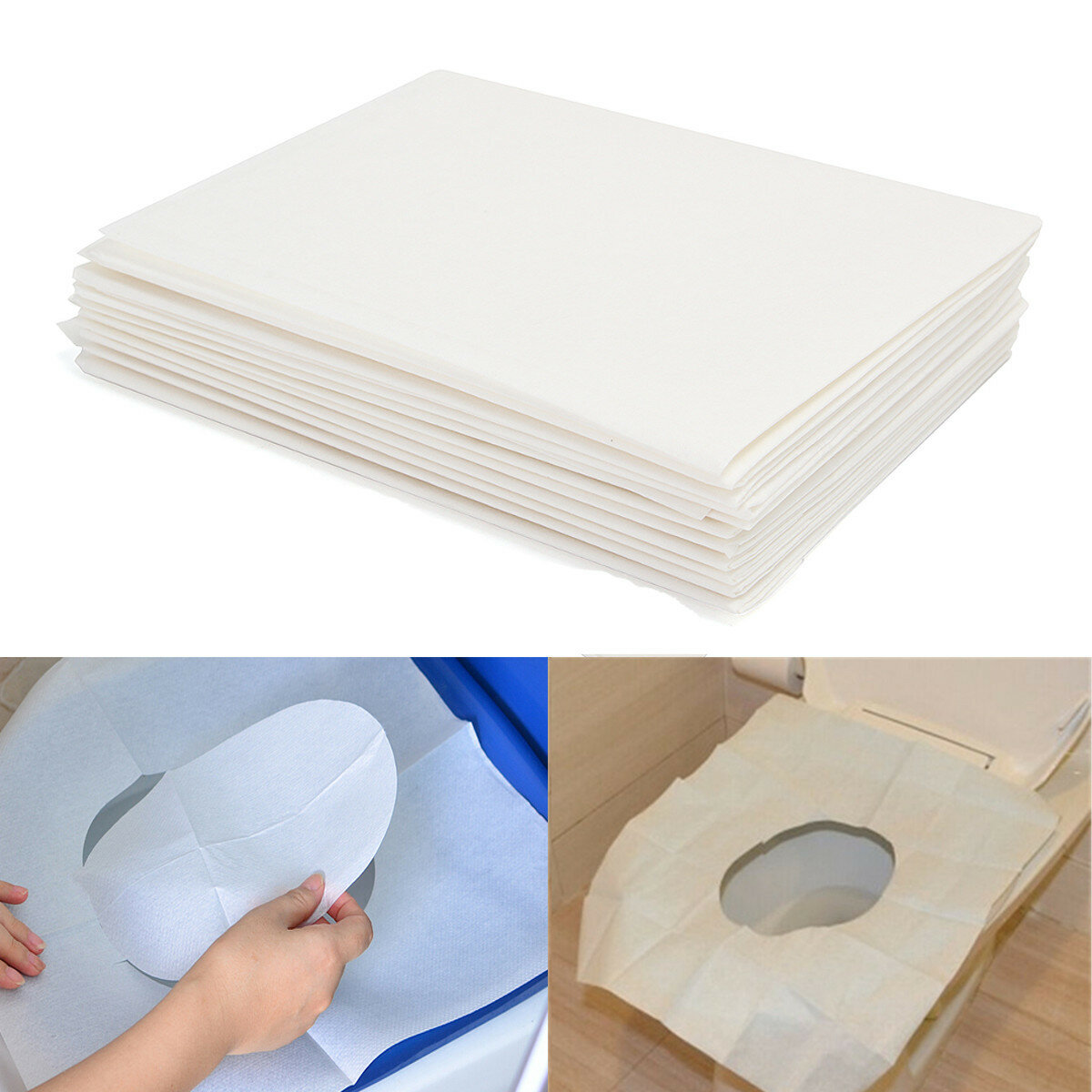 Super 10Pcs Toilet Seat Covers Paper Travel Biodegradable Disposable Sanitary Andrewgaddart Wooden Chair Designs For Living Room Andrewgaddartcom