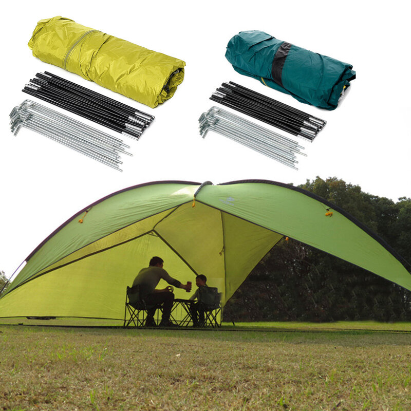 480cm 210T Polyester Triangle Shelter RV Travel Tent UV Waterproof Canopy Beach Camping Tent with Storage Bag Outdoor