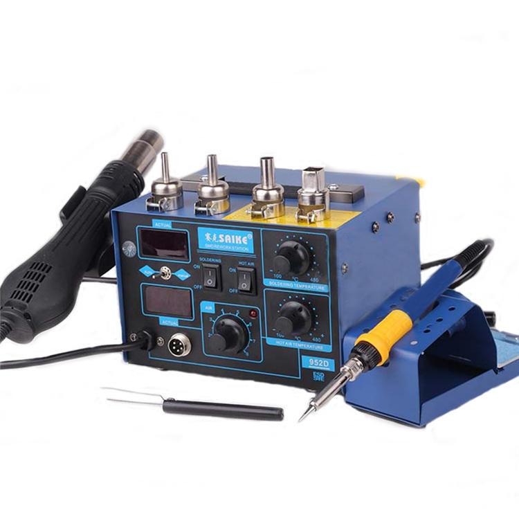 Saike 952D 2 en 1 220V Soldadura estación 700W pistola de aire caliente Soldadura hierro SMD retrabajo para la soldadura