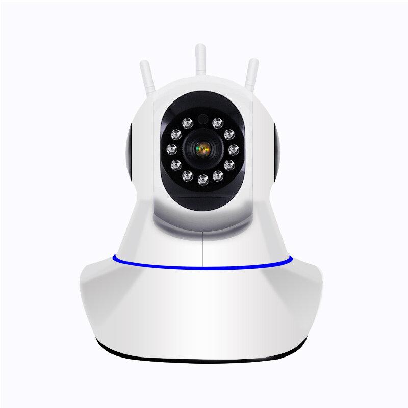 Vision nocturne de pan et d'inclinaison de caméra de surveillance de sécurité à la maison de caméra IP sans fil / câblée 1080P WiFi