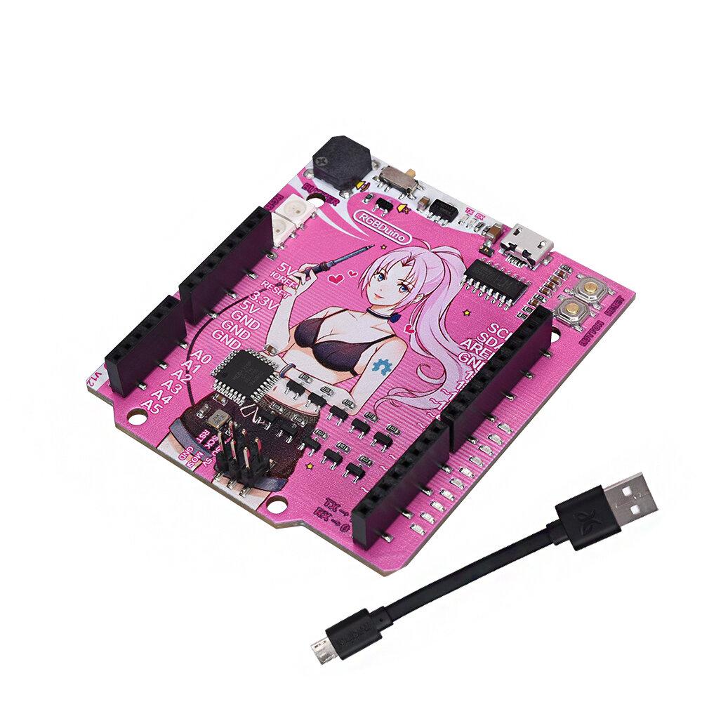 RGBDuino UNO V1.2 Jenny Development Board ATmega328P Chip CH340C VS UNO R3 Upgrade for Raspberry Pi 4 Raspberry Pi 3B Ge