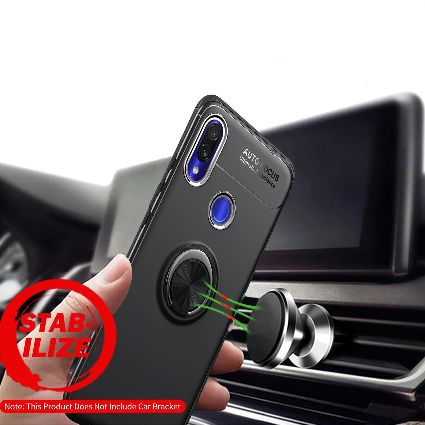 Bakeey Protector de adsorción magnética a prueba de golpes Caso con soporte para anillo de dedo para Xiaomi Redmi Nota 7/Redmi Nota 7 PRO