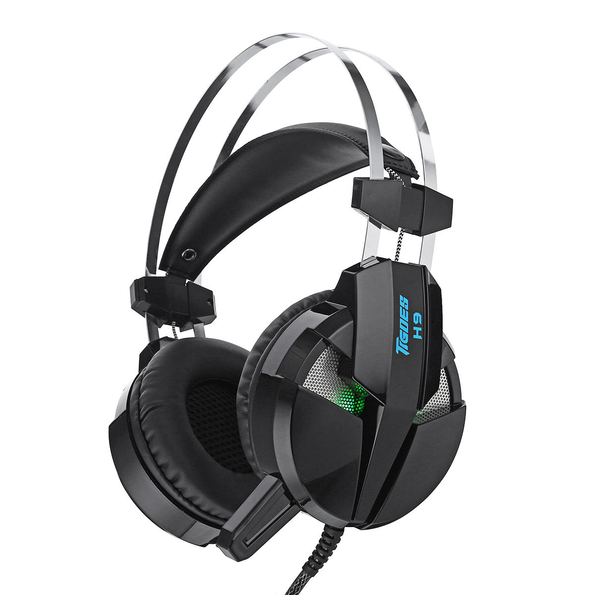 MISDE H9 Gaming Headphone Headset LED Light Stereo Noise Cancelling  Headphone with Mic