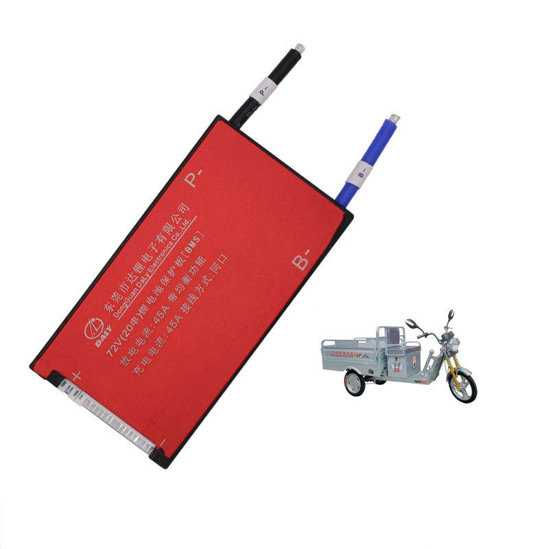 BIKIGHT Electric Bike 3.7V Li-ion 20S 72V 45A Battery Protection Board BMS Lithium Battery