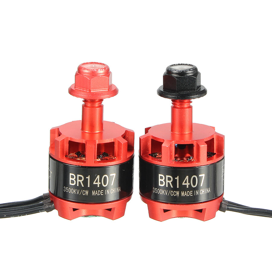 Racerstar Racing Edition 1407 BR1407 3500KV 2-3S Brushless Motor Red for 150 180 200 RC Drone FPV Racing