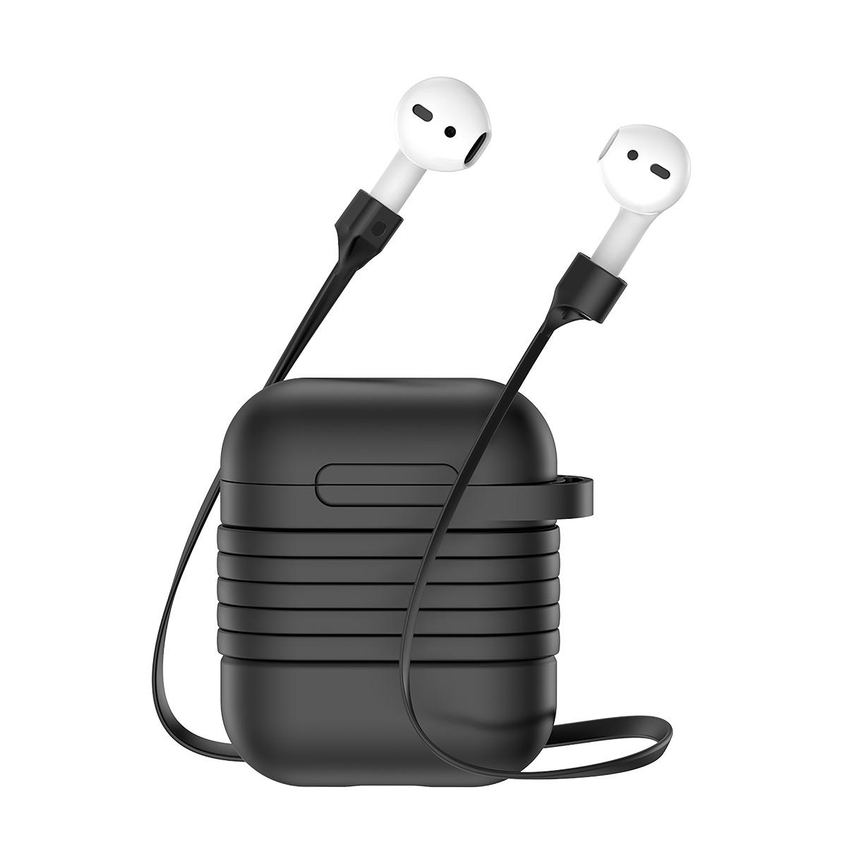 Baseus Portable Protective Case With Magnetic Silicone Sling For Apple  AirPods