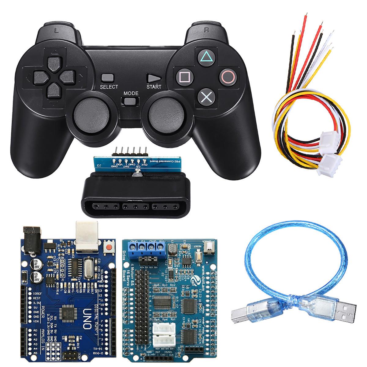WiFi bluetooth Handle DIY Remote Control Smart Car Module Kit For Arduino  Motor Servo Drive Arm