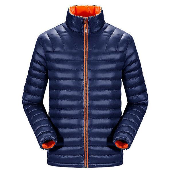 पुरुषों शीतकालीन आउटडोर विंडप्रूफ फैशन आकस्मिक मोटी कोट स्लिम फिट गद्देदार जैकेट